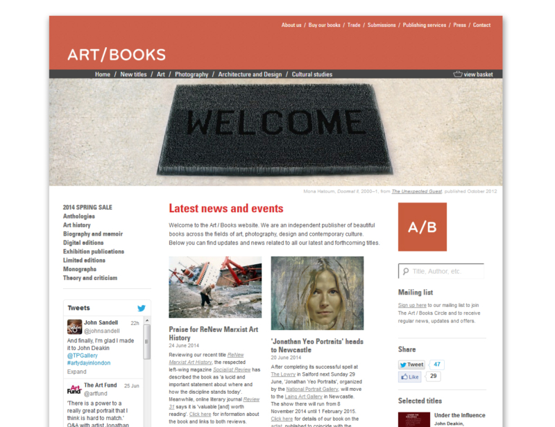 Startseite Art Books London
